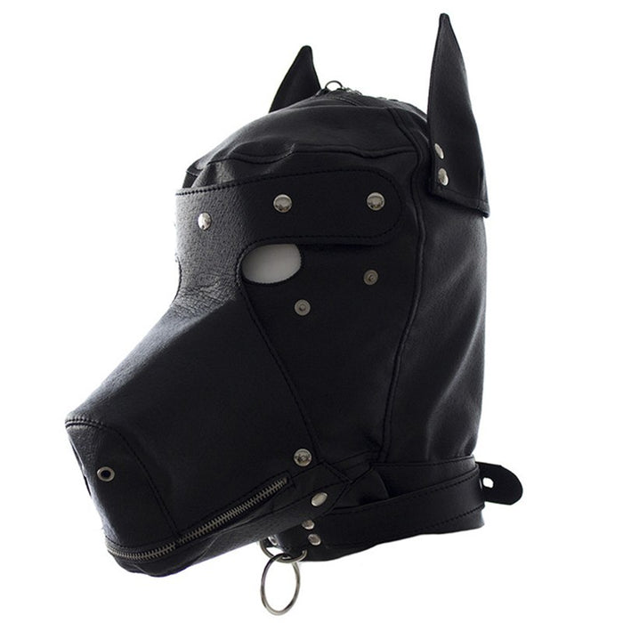 Leather hood leather dog hooded adult toy hood