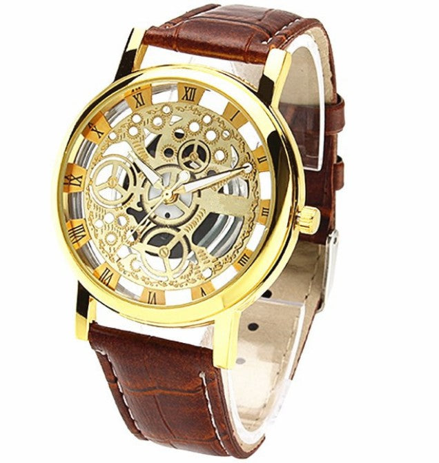 Double-sided hollow out non mechanical table belt waterproof lovers Watch