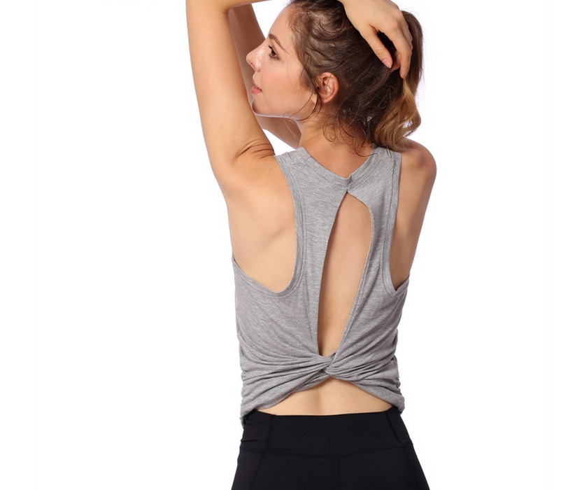 Autumn sexy back hollow sleeveless sports vest women running fitness quick-drying breathable yoga clothes tight shirt