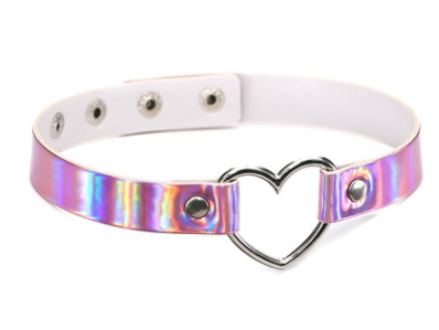 Europe and the United States Harajuku laser heart love heart-shaped collar necklace