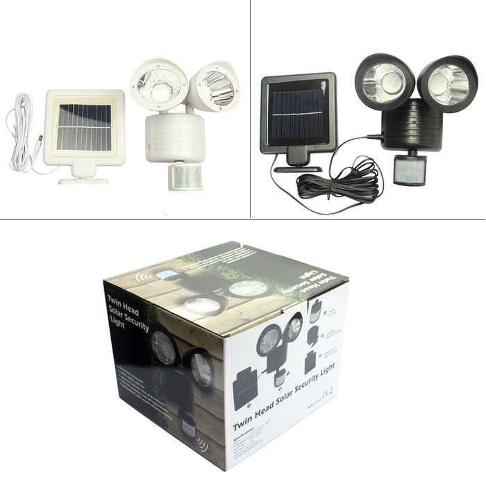 New solar lamp household solar human body induction double head light 22LED solar street lamp