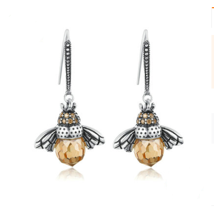 Zircon personality earrings