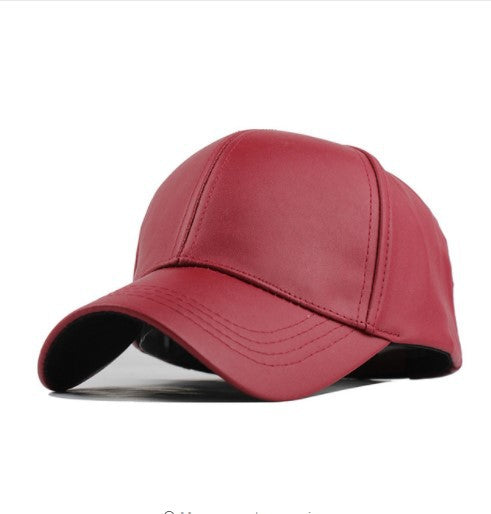 Four Seasons  trendy cap outdoor PU light baseball cap