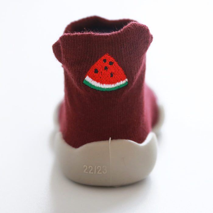 Embroidered cartoon children shoes