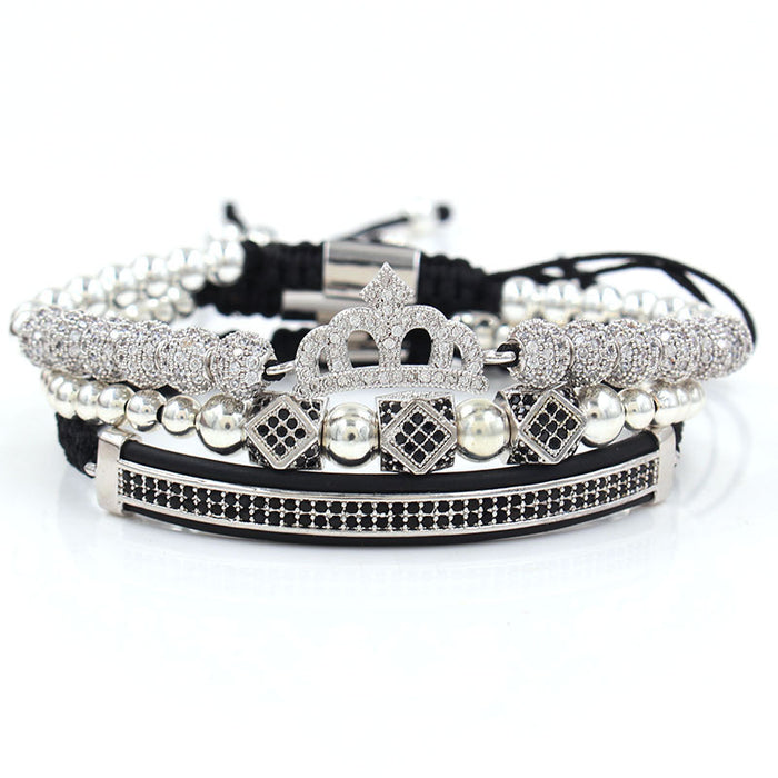 Crown small triangle bracelet