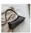 Stone pattern underarm shoulder bag
