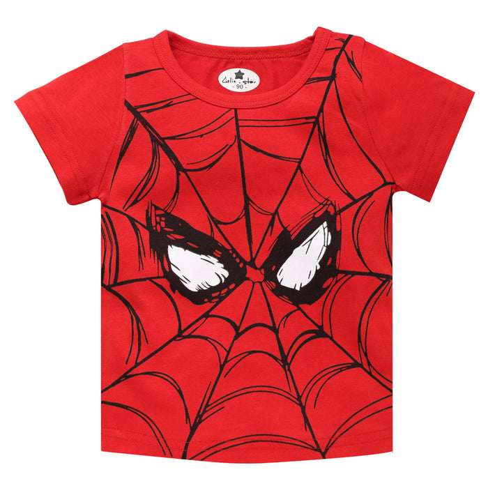 European and American children's clothing summer boy short-sleeved T-shirt printing cartoon cotton round neck children baby casual wild t-shirt