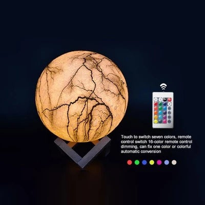 Moon Light Painted LED Lightning 3D Night Light