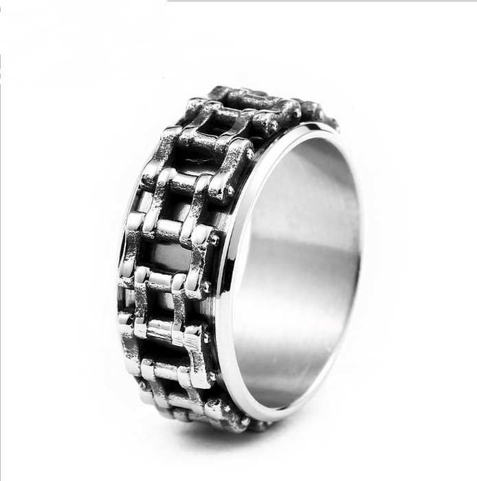 Personalized retro motorcycle accessories wholesale Stainless steel chain ring