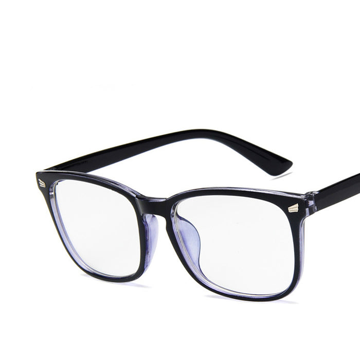 Fashion retro adult full frame glasses rivet eyeglasses