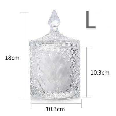 Nordic crystal glass storage tank