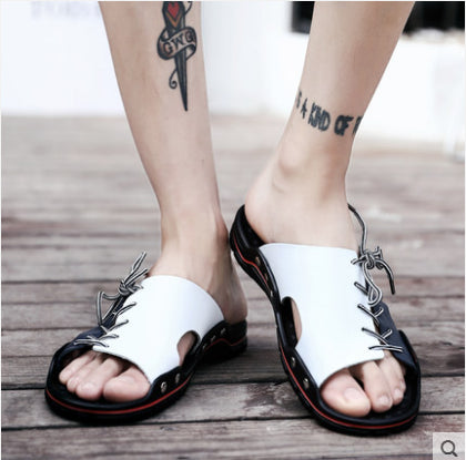 One-piece foot strap with stylish flat bottom handmade sandals slippers