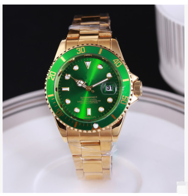 Diving green water ghost labor series imitation ceramic classic business calendar watch