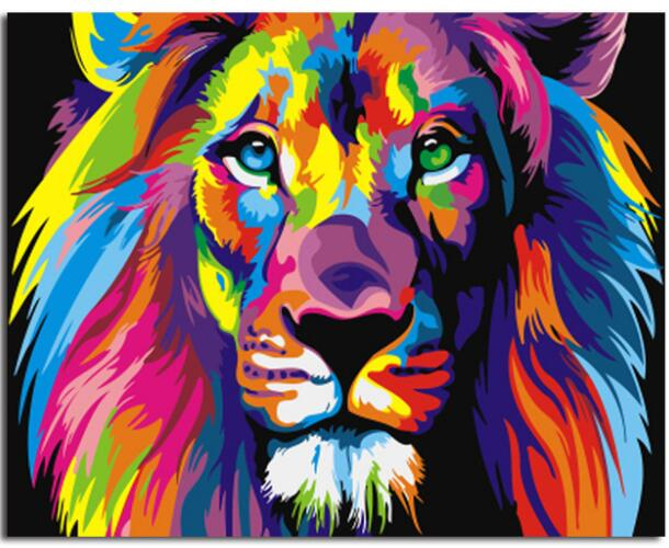 Colourful Lion Painting