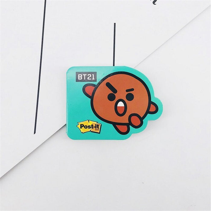New Kpop Poster Sticker Accessories Sticky Note photocards Postcards COOKY CHIMMY TATA KOYA Cartoon Stickers