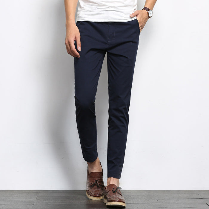 Men's cropped casual pants