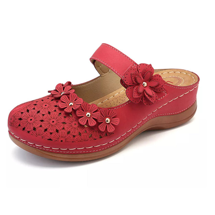 Summer Vintage flowers Wedge Women Sandals