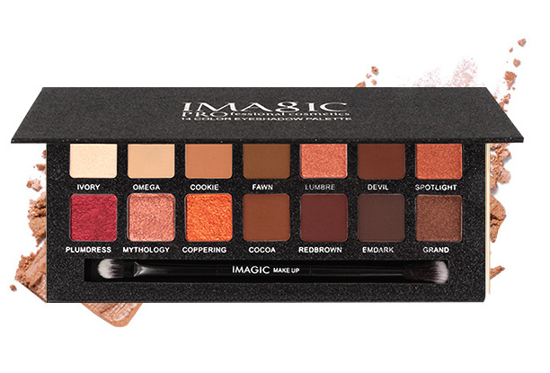 Cool and warm collocation with 14 color eye shadow to brighten complexion and make-up eye shadow.