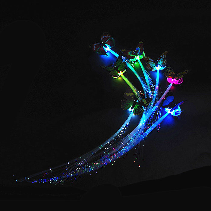 1Pc/2Pcs/5Pcs LED Flashing Hair Braid Glowing Luminescent Hairpin Hair Ornament Girls LED Novetly Toys New Year Party Christmas