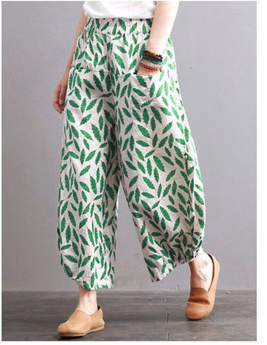 Leaf wide leg pants