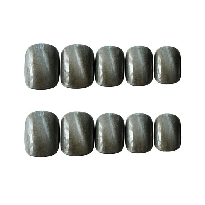 24sheet high-end false nails ice blue cat eye false nails multi-color optional false nails, artificial nails