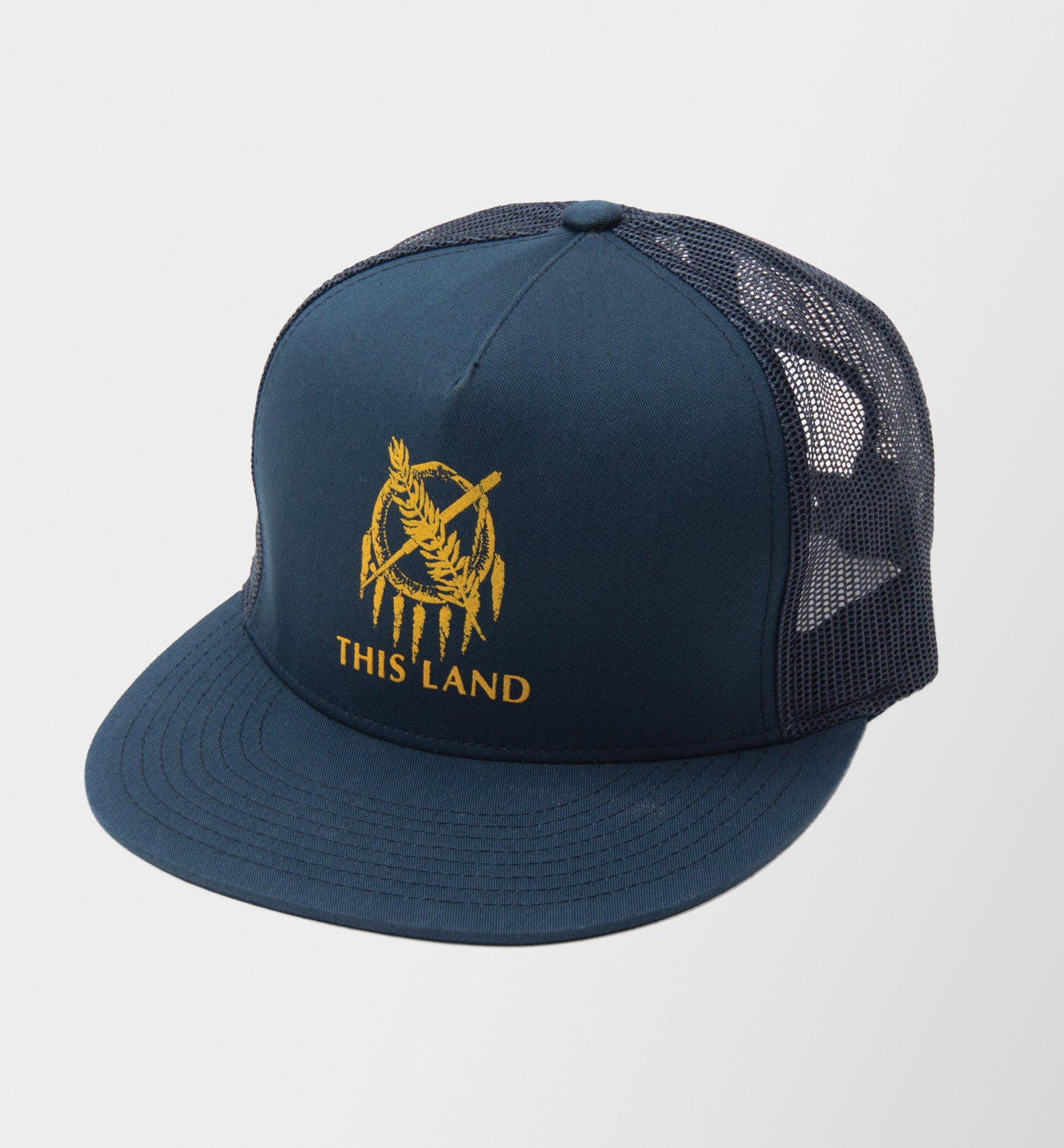 Ouroboros Shield Trucker Hat - Navy