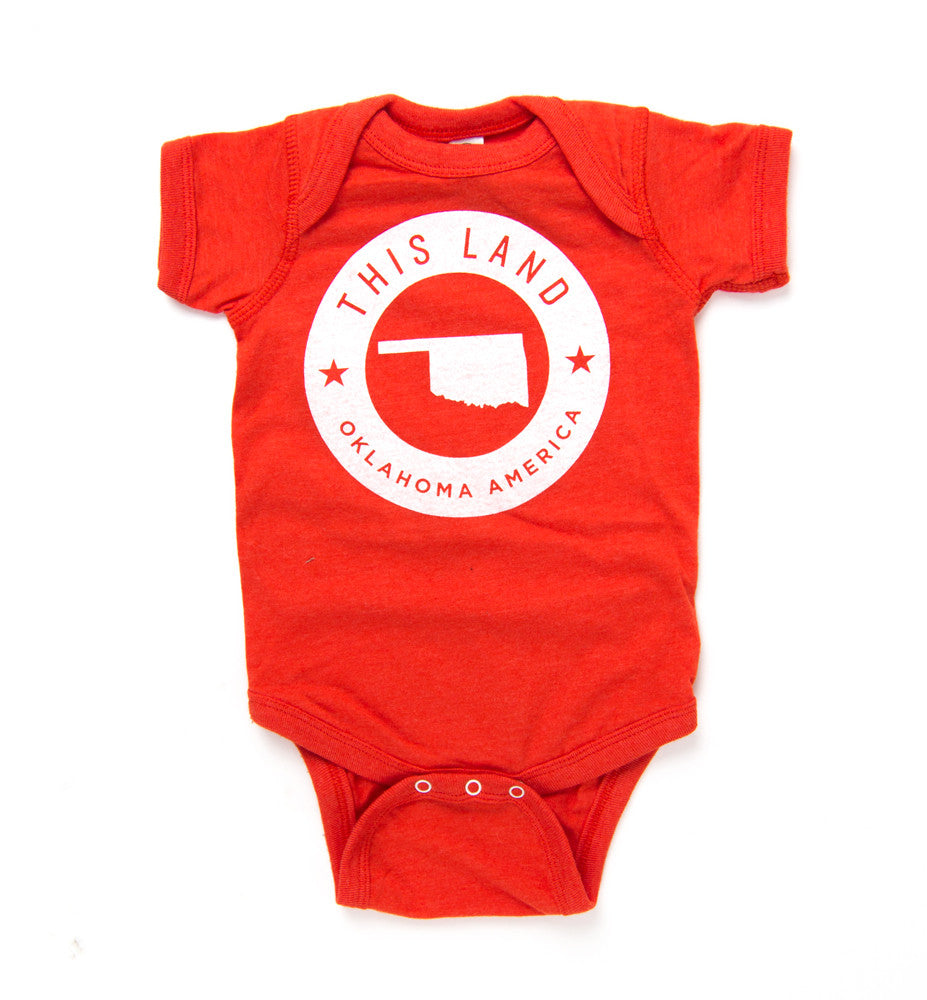 This Land Logo Onesie - Vintage Orange