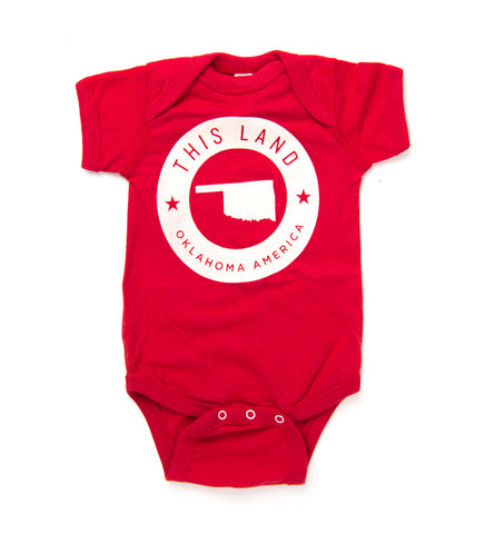 This Land Logo Onesie - Vintage Red