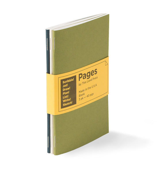 Pages by This Land Press - 3pk Notebooks