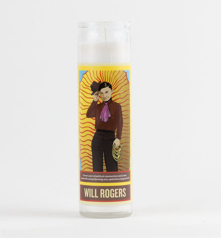Legends of This Land - Will Rogers Candle