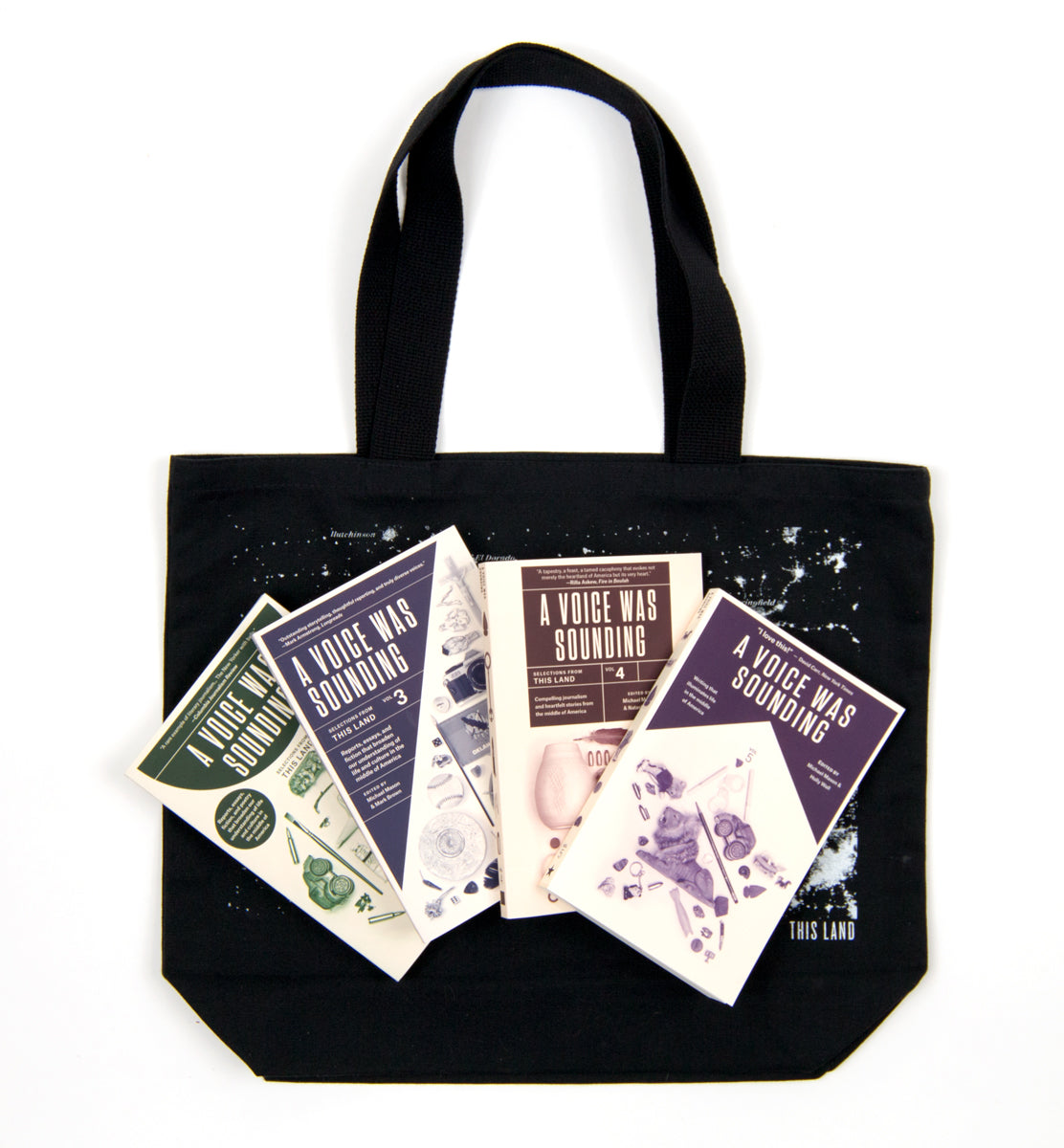 A Voice Was Sounding - 4 Book + Tote Bag Bundle