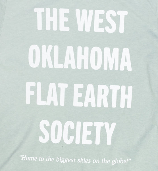 West OK Flat Earth T-Shirt - Dusty Blue