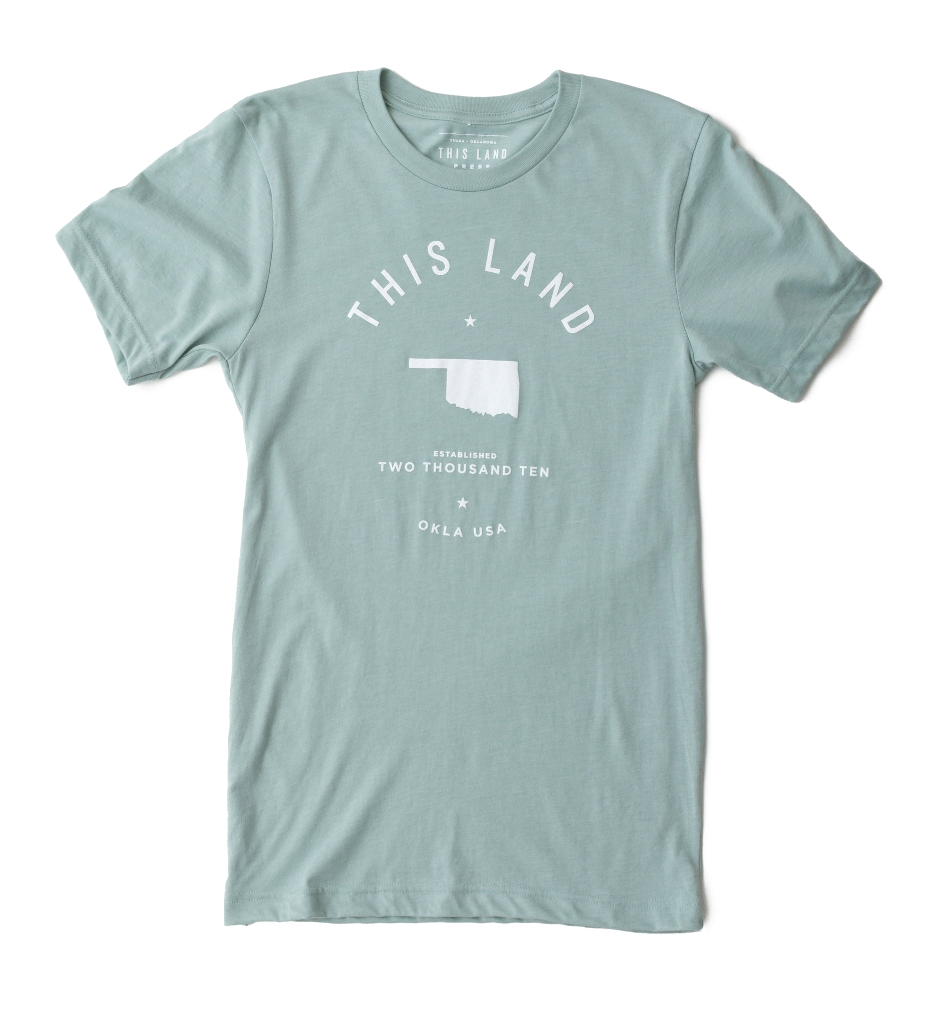 Unisex Open Logo T-Shirt - Dusty Blue