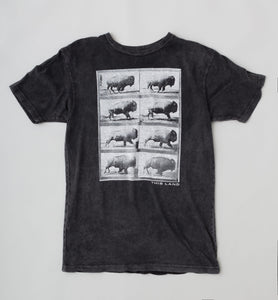 Unisex Running Bison T-Shirt - Washed Black