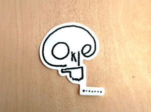 Okie Skull Sticker