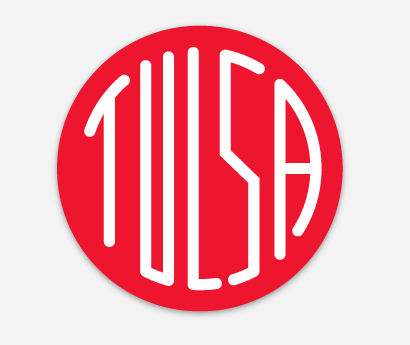Tulsa Circle Sticker