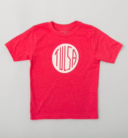 Kid's Tulsa Circle T-Shirt - Red