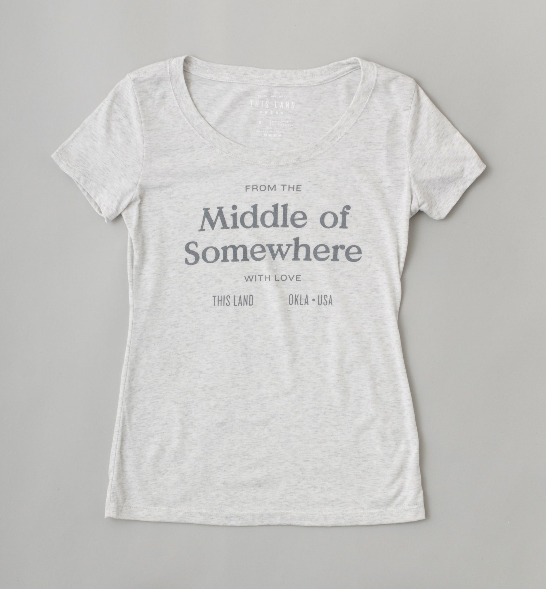 Women's Middle of Somewhere T-Shirt - Heather Grey