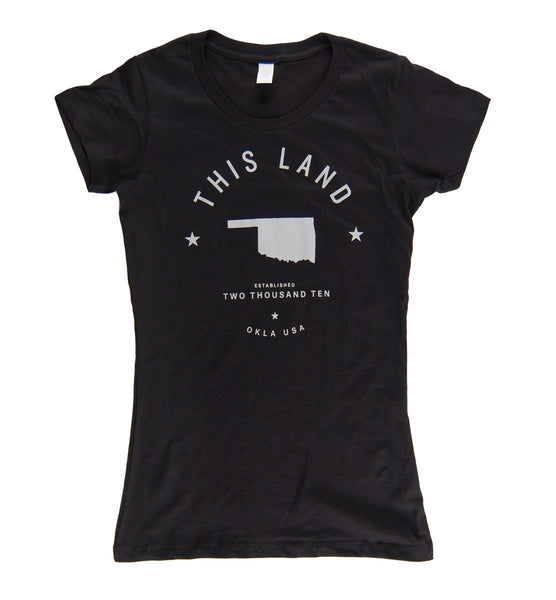Ladies Long-Body Logo T-Shirt - Black