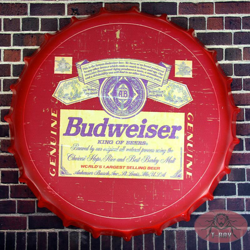 Signs: Vintage Round Tin Signs