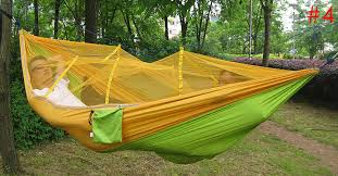 Outdoor: Hammock Portable Parachute Fabric Mosquito Net
