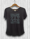 "Organic Cotton and Bambu - ""Love and Peace"" T-Shirt"