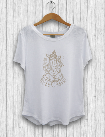 "Organic Cotton and Bambu - ""Ganesha"" T-Shirt"
