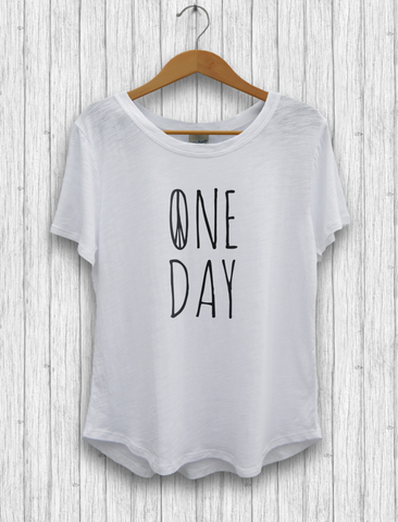 "Organic Cotton and Bambu - ""One Day"" T-Shirt"