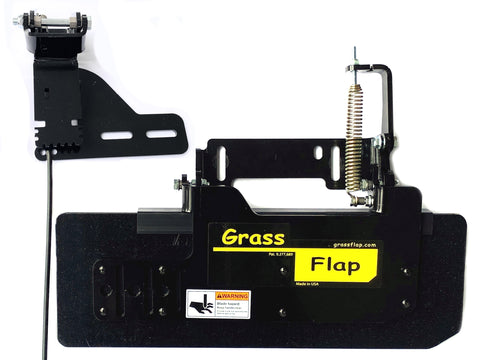44P50-5C-A18 Low Profile Heavy-Duty GrassFlap with SEC Pedal Includes Mounting Plate