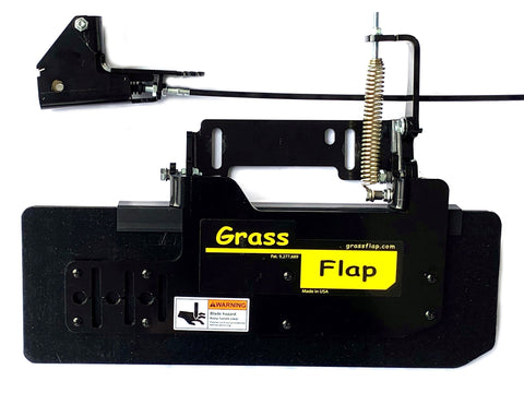 "41P70-5-A13 Low Profile Heavy-Duty GrassFlap with SE Pedal includes Latch Plate 2"" Extension"