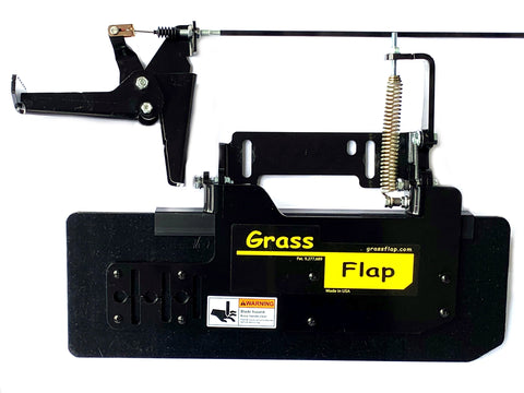 41W70-6-A4 Low Profile Heavy-Duty GrassFlap with RE Pedal Includes Wright No-Drill Mount