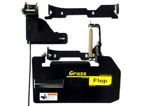 42B50-5L GrassFlap for Exmark with No-Drill Flap Mount & SEL Pedal