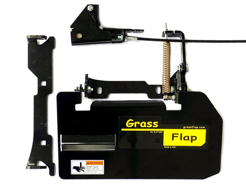 42B70-5-A22 GrassFlap for Exmark with No-Drill Flap Mount & SE Pedal Includes Strike Plate.
