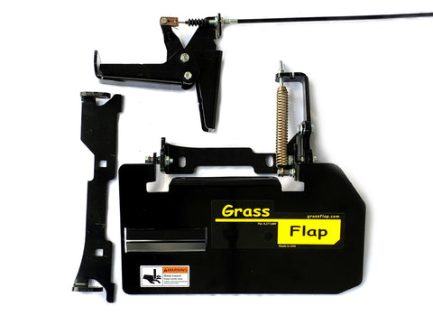 42B50-6 GrassFlap for Exmark with No-Drill Flap Mount & RE Pedal.